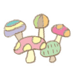 カラフルキノコ